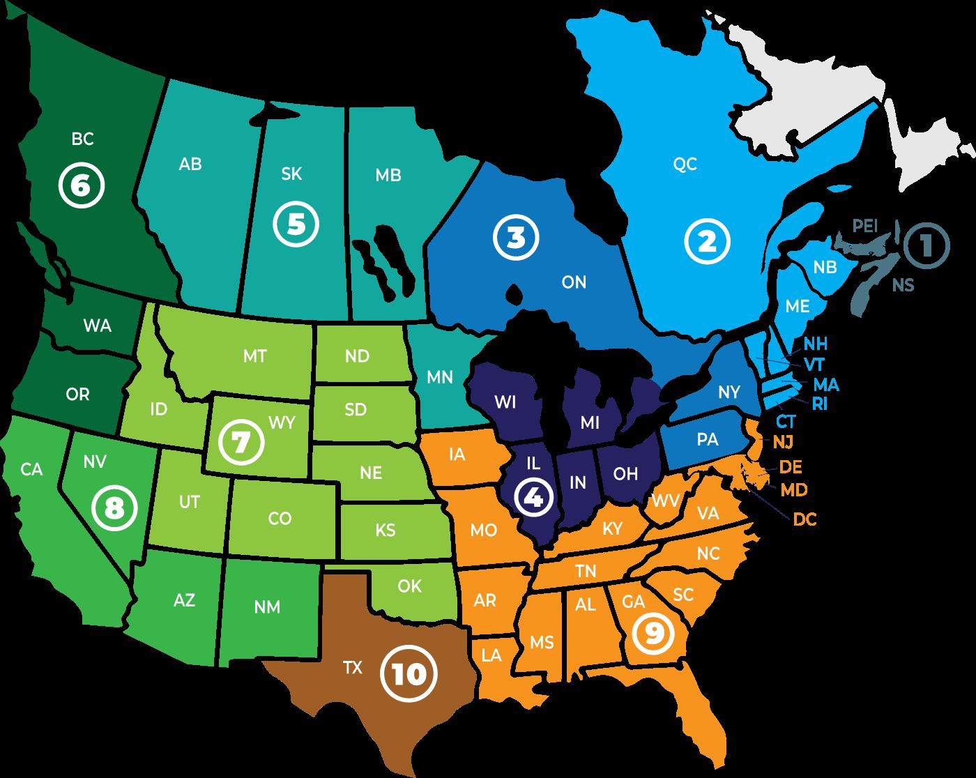Sales Area Map